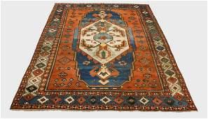 Azerbaijani style hand knotted wool rug, 9 x 12