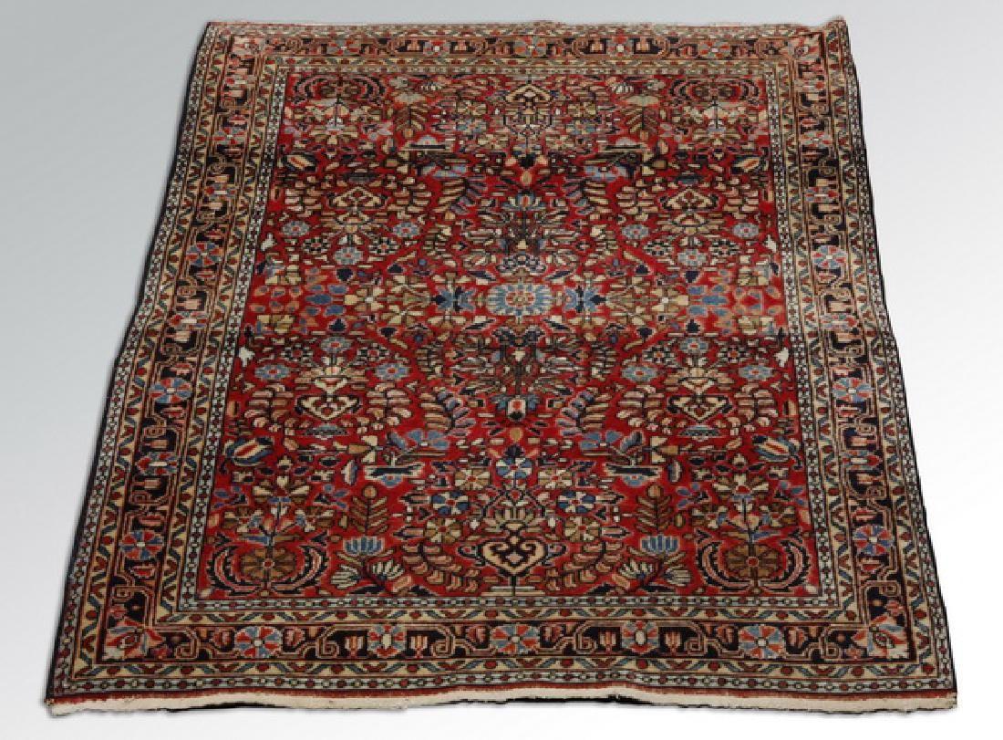 Persian Sarouk wool rug, circa 1930s, 3 x 5