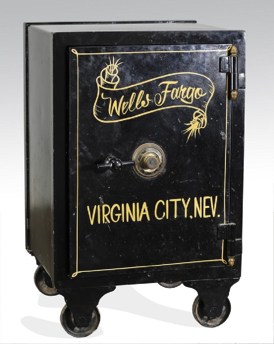 """Early 20th c. 'Wells Fargo' cast iron safe, 32""""h"""