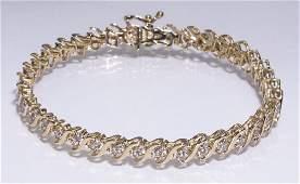 Diamond  14k yellow gold tennis bracelet 7l