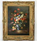Dutch Old Master inspired O/c of floral still life