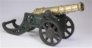 "Cast iron decorative miniature signal cannon, 18""l"