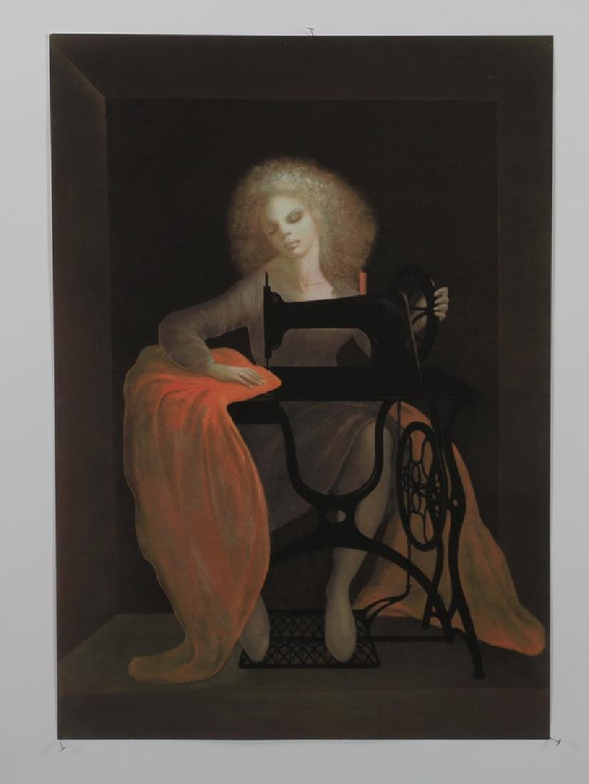 "Leonor Fini signed, numbered litho, 29""h"