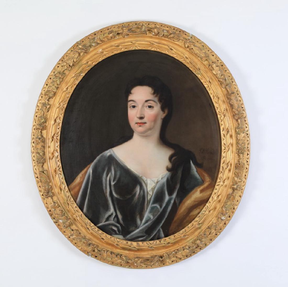 After John Verelst, 18th c. O/c portrait of lady