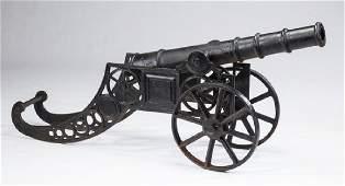 """Cast iron decorative cannon, 62""""l"""