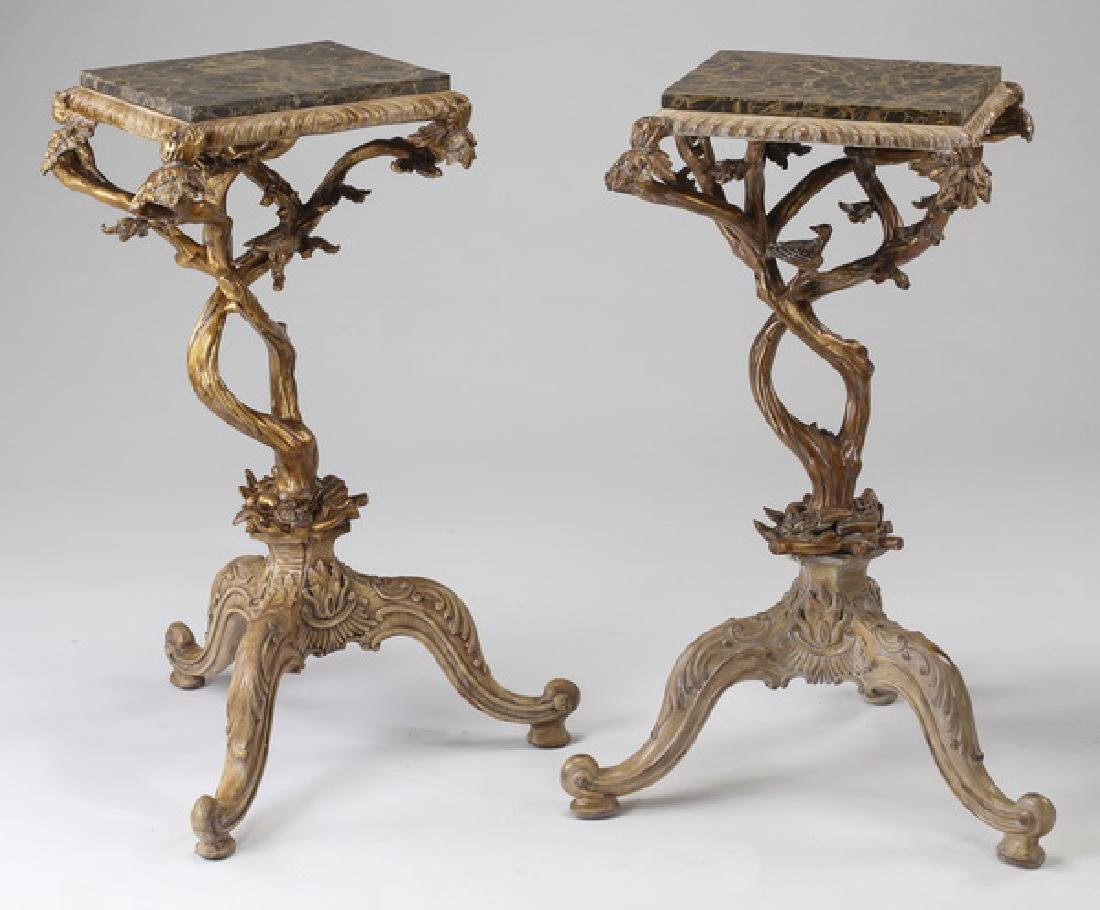 (2) Maitland Smith Figural Tree Branch Side Tables