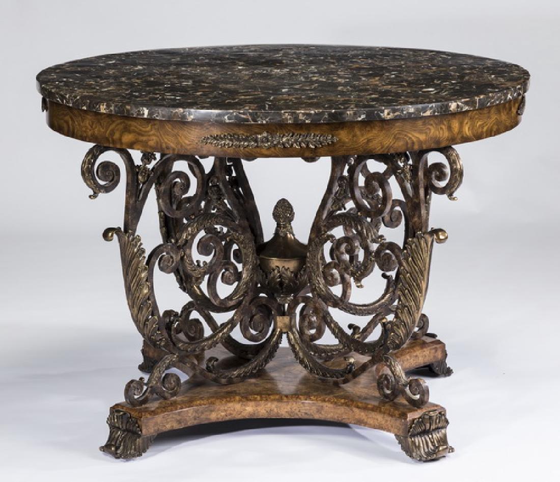 "Maitland-Smith center table in the Rococo taste, 34""h"