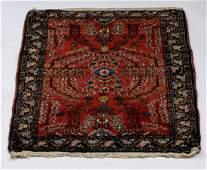 Hand knotted Persian Sarouk mat