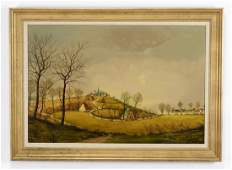 Early 20th c Dutch School pastoral O/c signed 'Sonck'
