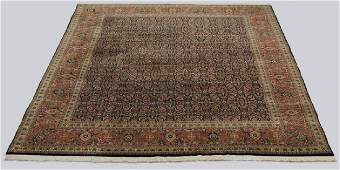 Indo-Tabriz hand knotted wool rug, 12 x 9