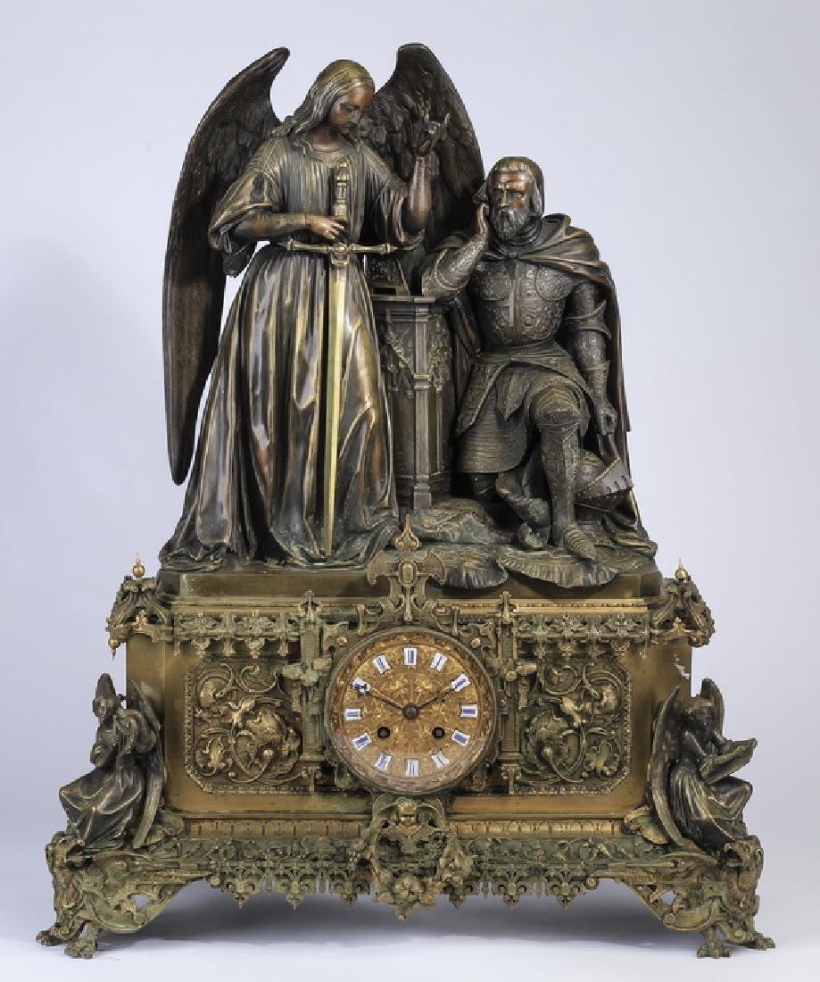 19th c. Raingo Freres Gothic Revival mantel clock