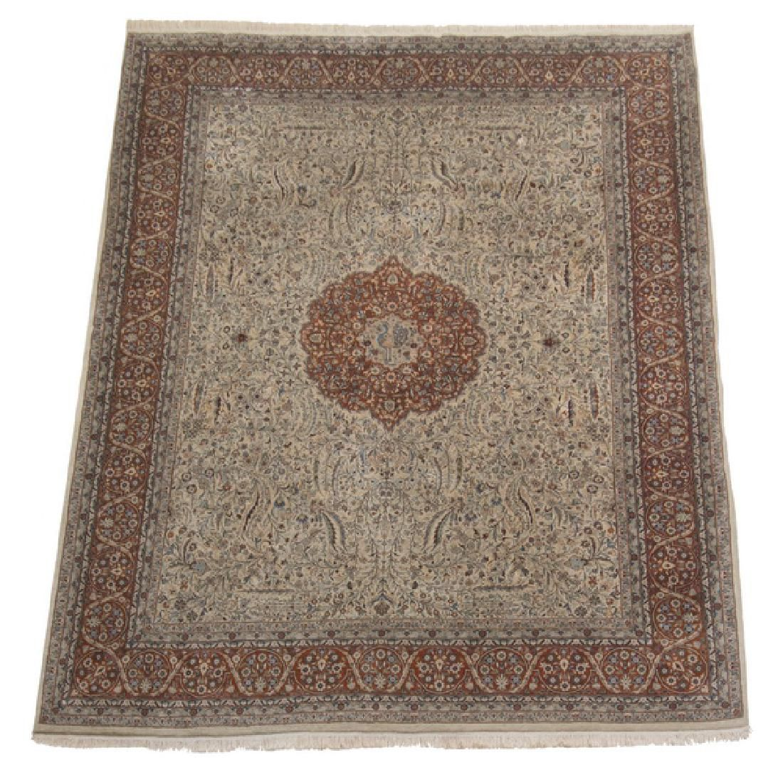 Hand knotted Indo-Persian Tabriz carpet, 9 x 13