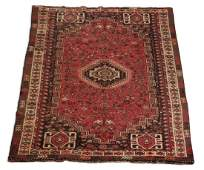 Hand knotted wool on wool Turkish tribal rug, 5 x 8