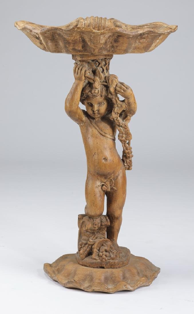 "Late 19th century figural Venetian planter, 40""h"