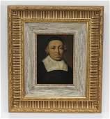 19th c. Dutch School O/c portrait