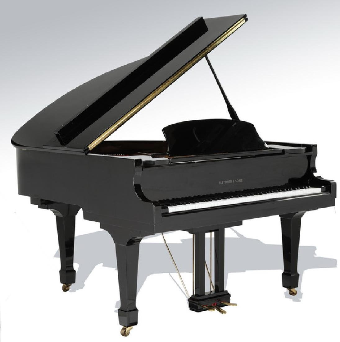 Fletcher & Sons baby grand piano w/ ebony finish