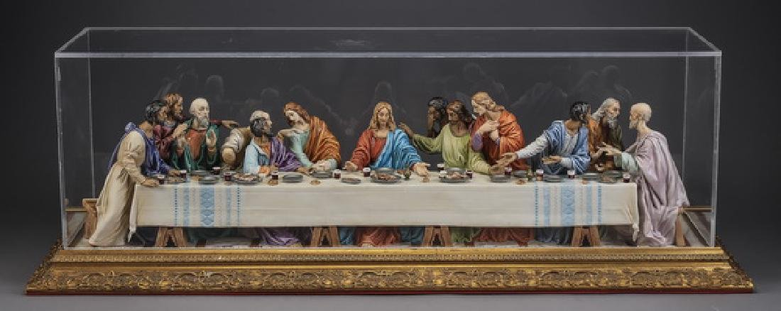 Capodimonte porcelain 'Last Supper' by S. Maggioni