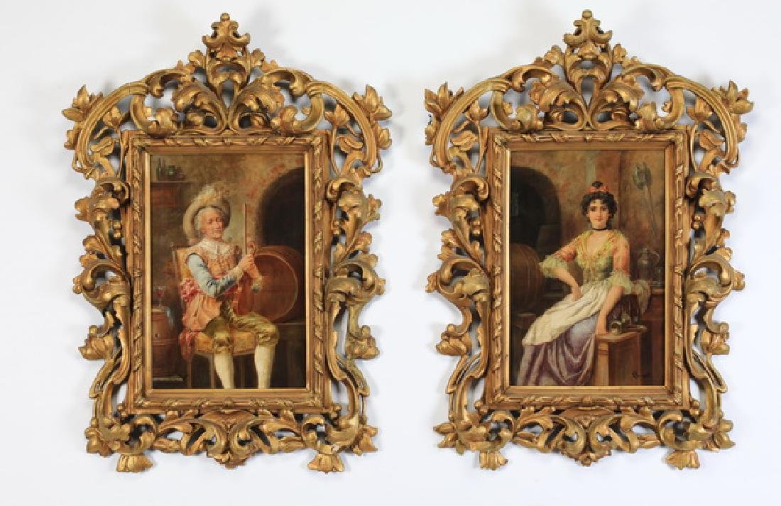 (2) Continental O/c portraits of 18th century figures