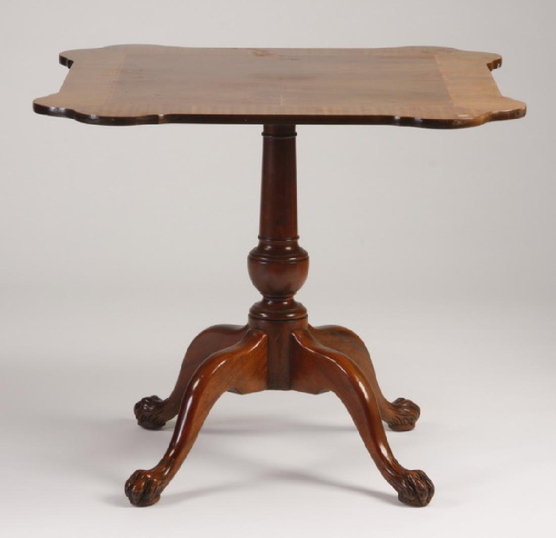 Early 20th c. parquetry inlaid center table