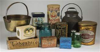 Group of 13 vintage kitchen decor items
