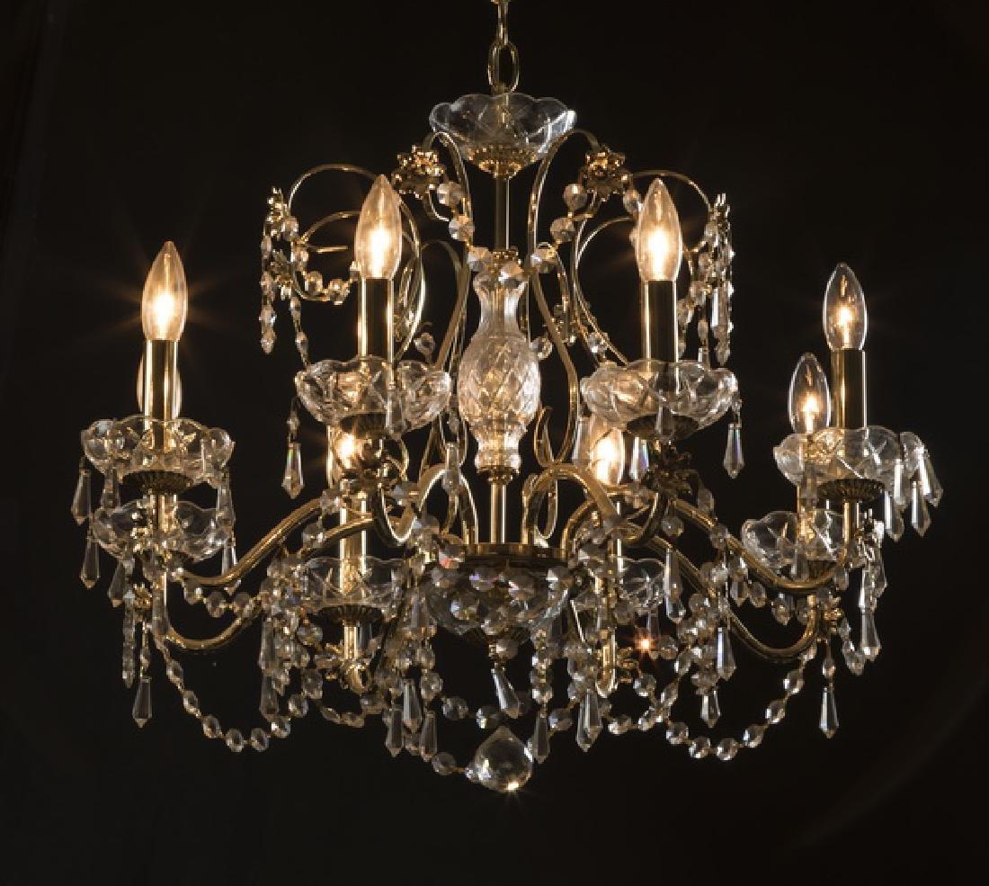 "Louis XV style brass 8-light chandelier, 32""dia."
