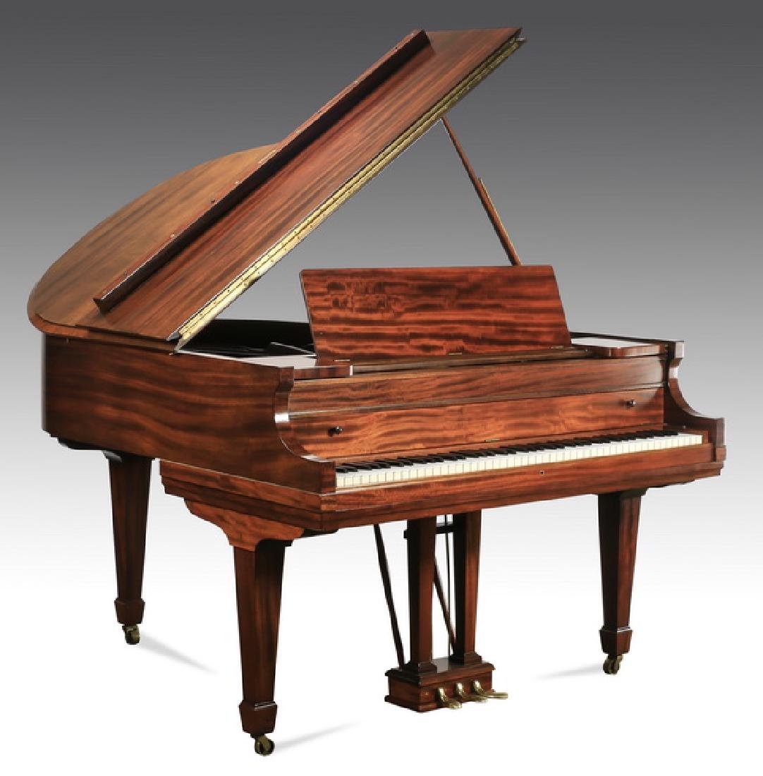 Behning & Son mahogany baby grand piano w/ bench