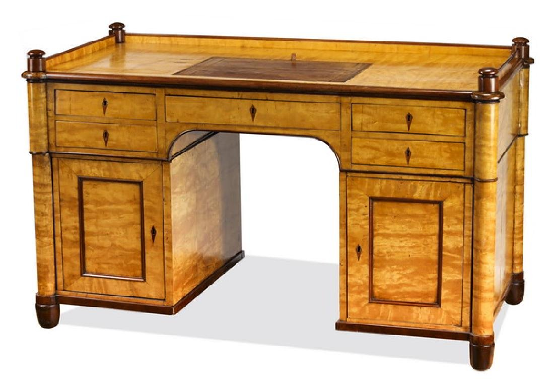 19th c. Danish Biedermeier executive desk