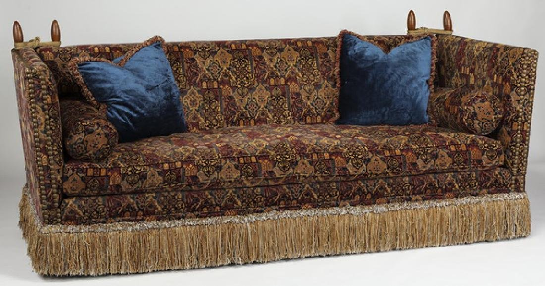 E.J. Victor Knole sofa w/ tapestry upholstery