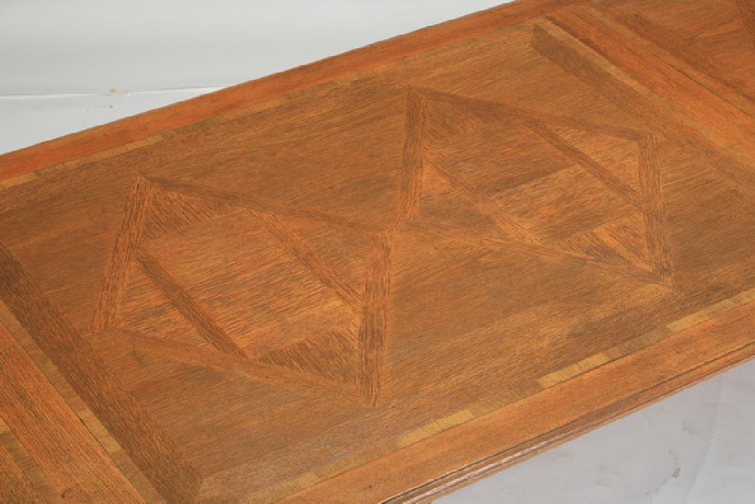 French Provincial style parquetry inlaid farm table - 3
