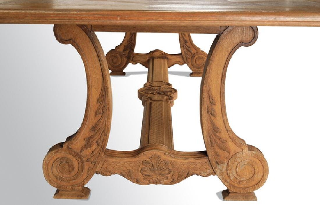 French Provincial style parquetry inlaid farm table - 4