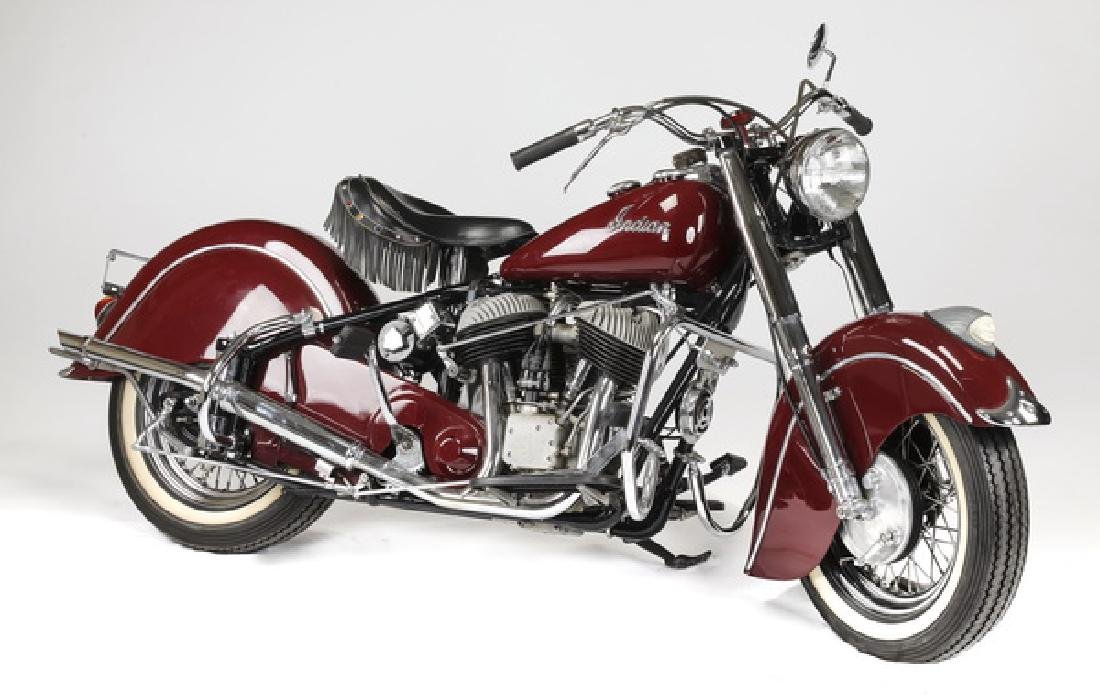 Rare, restored, vintage 1951 Indian Chief motorcycle