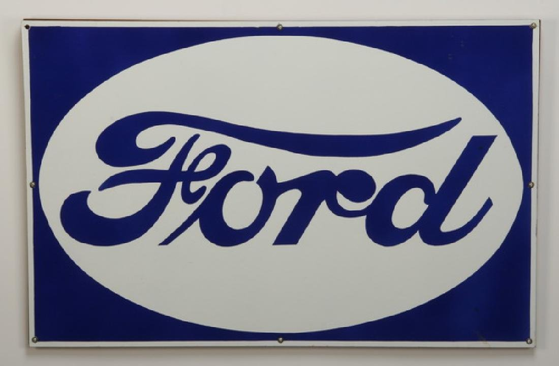 Vintage-style Ford Motor sign