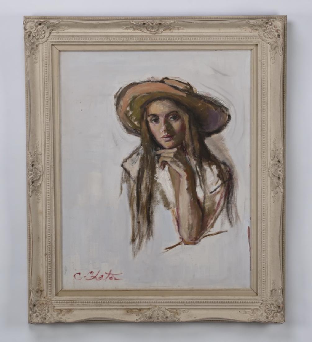 Constantin Chatov (Russian) signed O/c portrait
