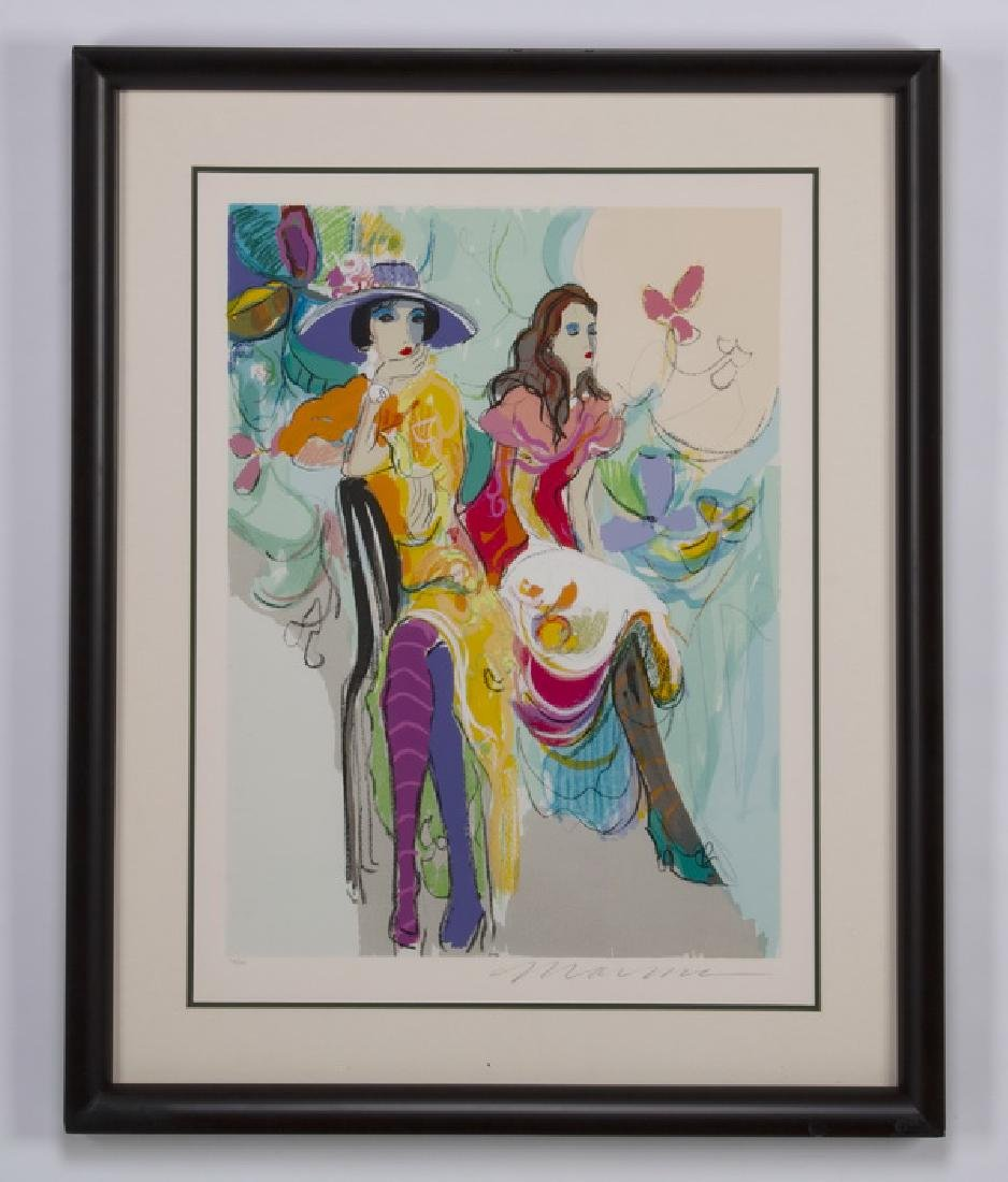 Isaac Maimon framed serigraph 'Les Coquettes II'