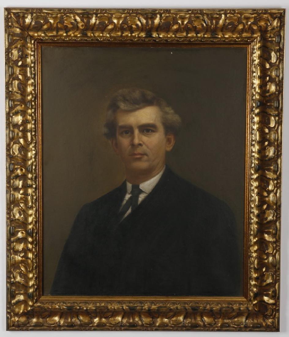 Early 20th c. O/b  portrait of a gentleman