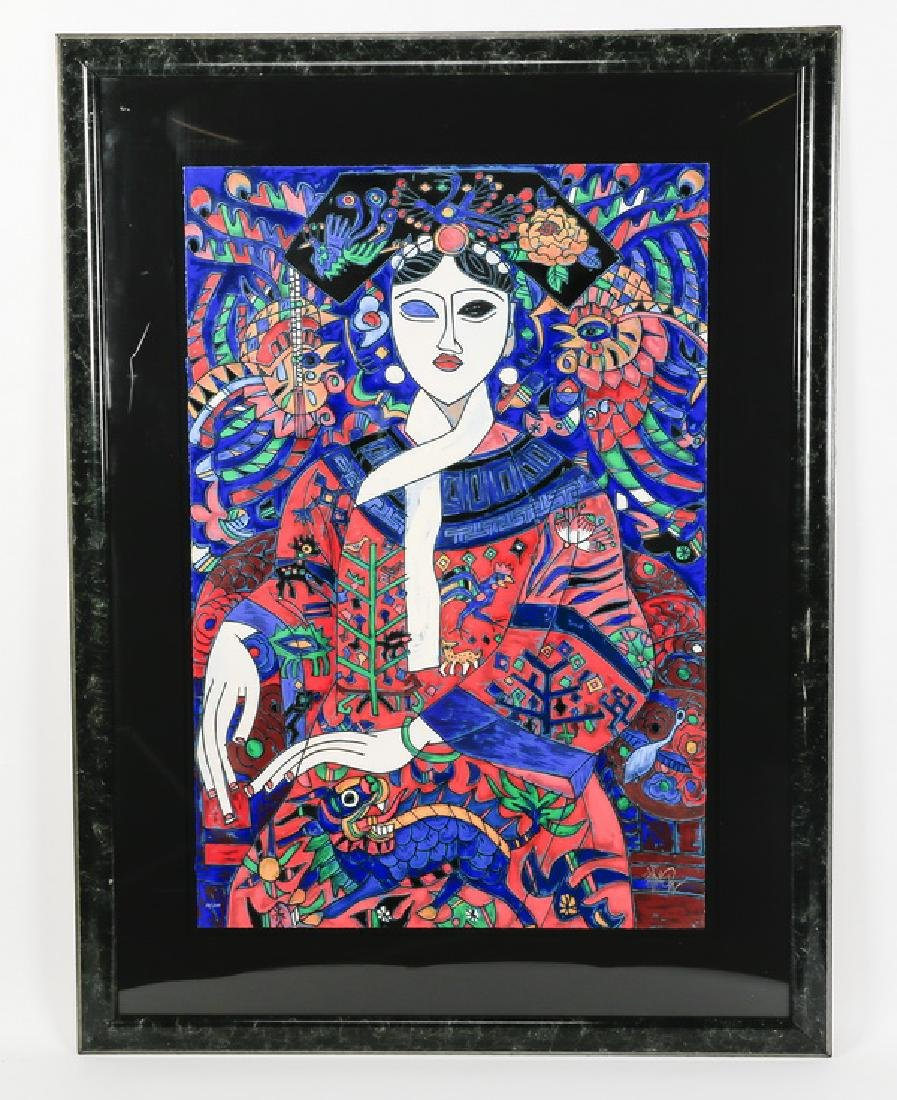 'The Empress' serigraph by Jiang Tiefeng, signed