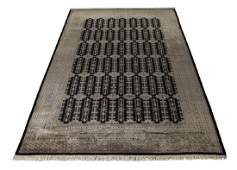 IndoBokhara hand knotted wool carpet 18 x 12