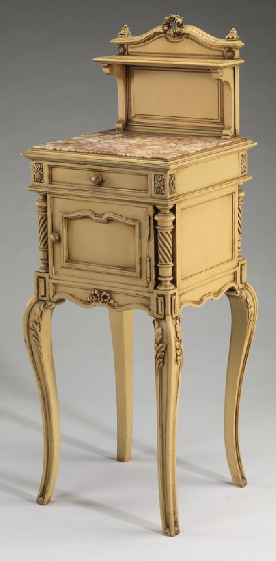 French paint-decorated Louis XV style side table
