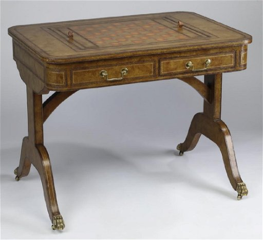 Maitland-Smith chess and backgammon game table - Mar 18