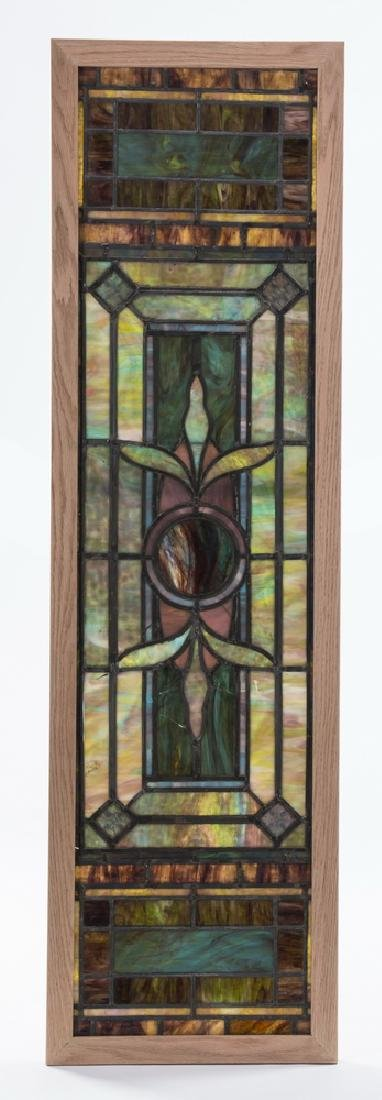 19th c. slag glass mosaic window, attr. Ruby Bros