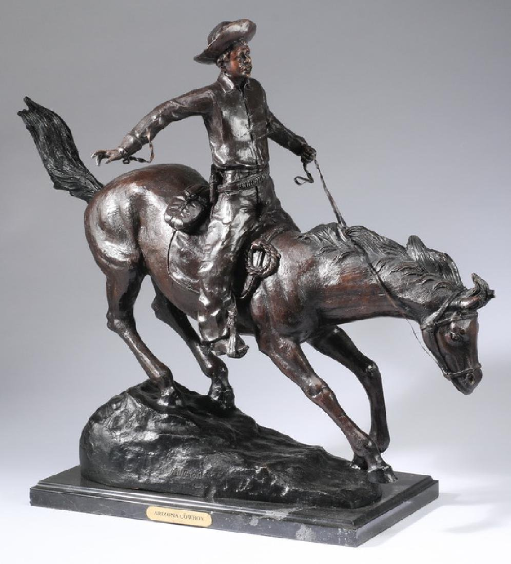After Frederic Remington, 'Arizona Cowboy' bronze