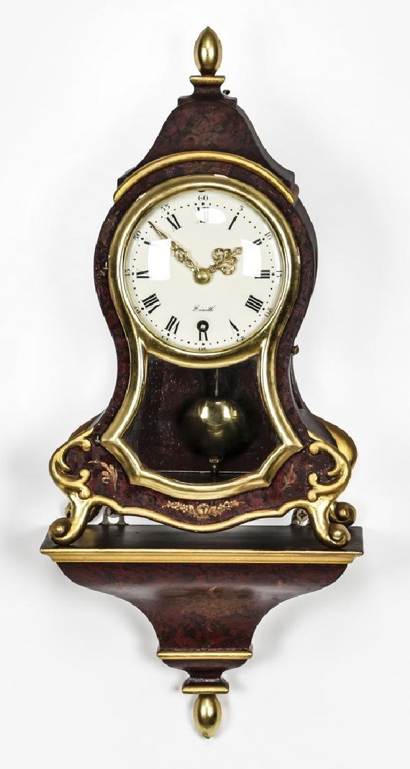 """Zenith Le Locle bracket clock with shelf, 19""""h"""