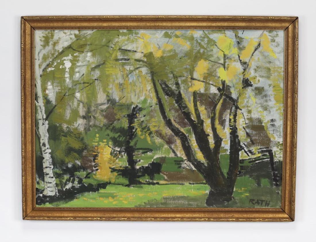 Hildegard Rath signed O/c 'My Garden in Spring'