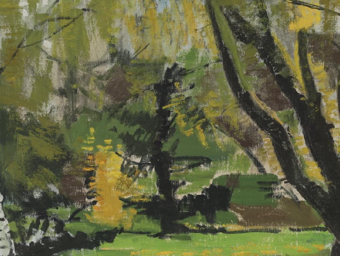 Hildegard Rath signed O/c 'My Garden in Spring' - 2