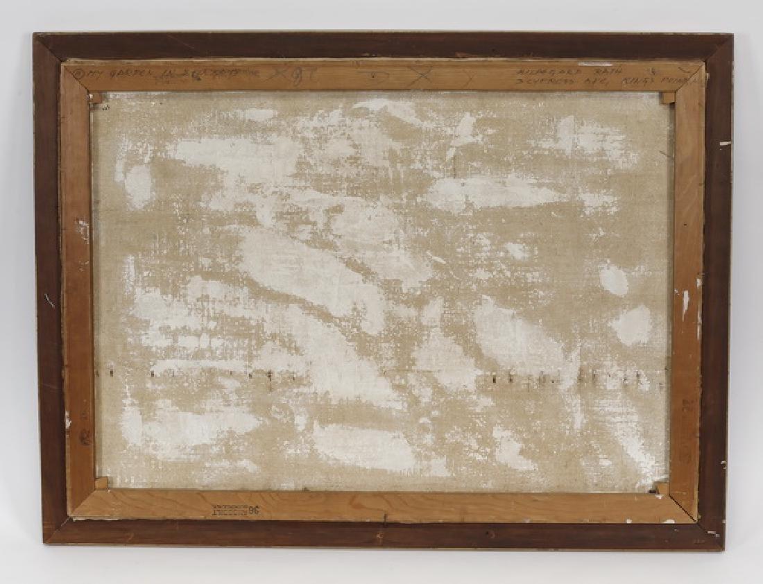 Hildegard Rath signed O/c 'My Garden in Spring' - 4