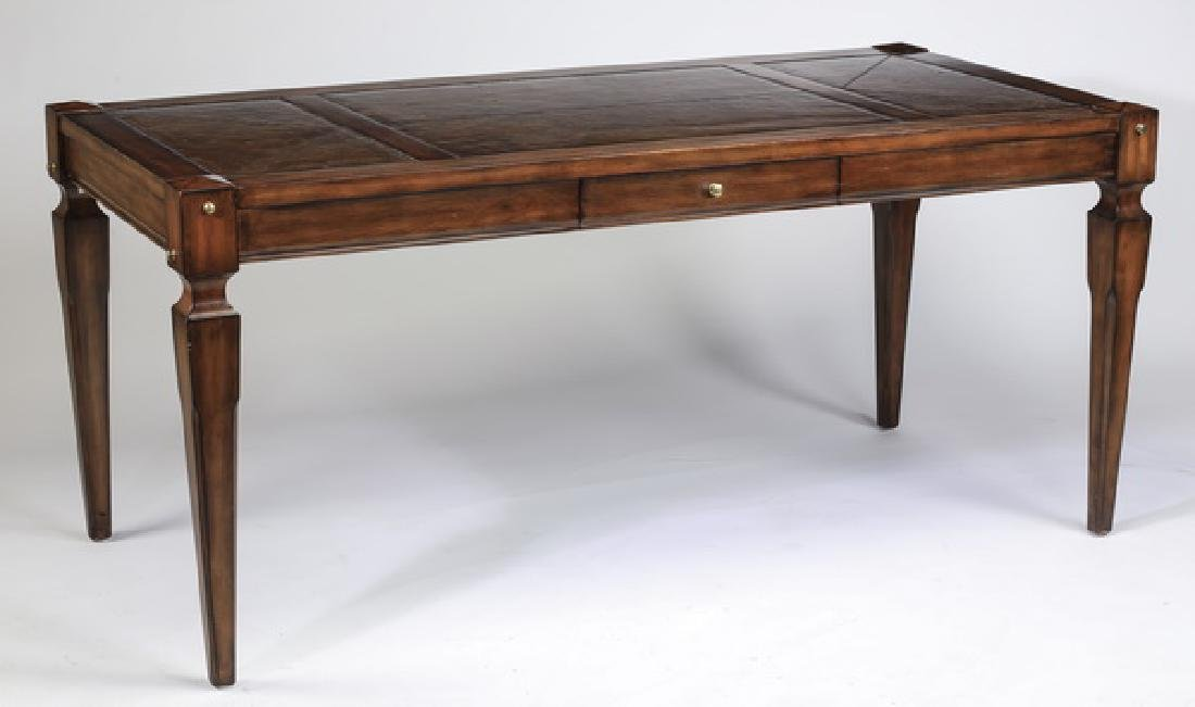 Federal style mahogany writing desk w/ leather top