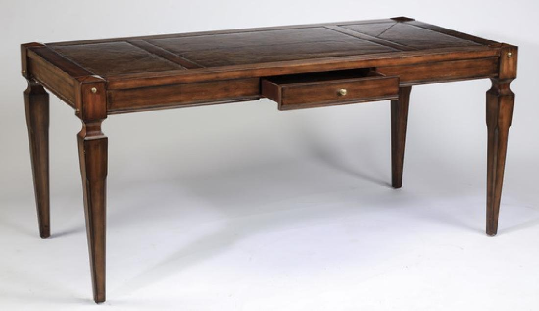 Federal style mahogany writing desk w/ leather top - 2