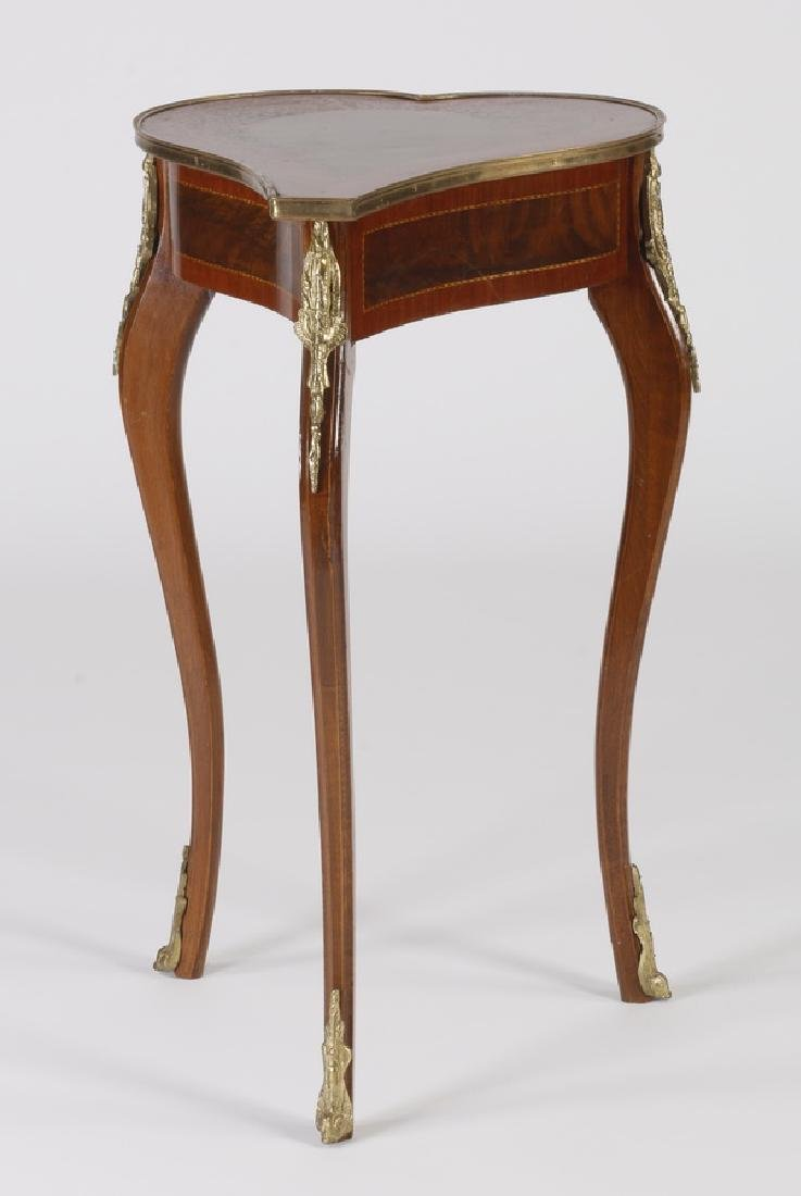 "Marquetry inlaid occasional table, 32""h"