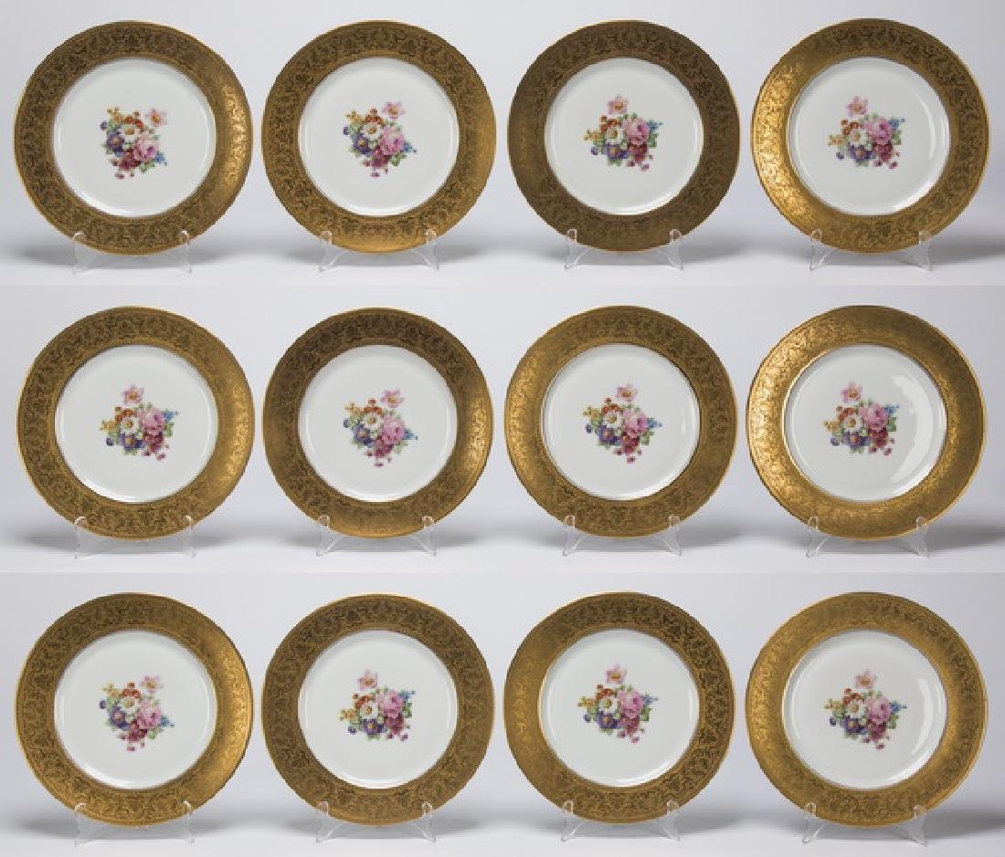Set of 12 porcelain cabinet plates by Heinrich & Co.