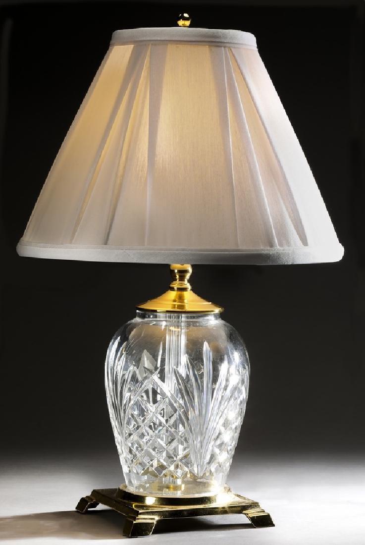 "Waterford crystal 'Kilkenny' table lamp, 19""h"